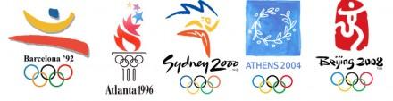 Logo Olimpiade Barcelona, Atlanta, Sydney, Athena, Beijing