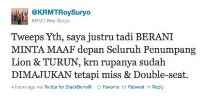 Roy Suryo Minta Maaf