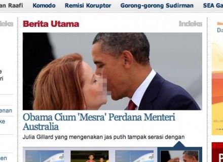 Tempo: Obama Cium Gillard, Perdana Menteri Australia