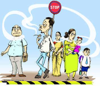 Merokok di tempat umum menganggu